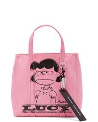 rosa bedruckte Shopper Tasche aus Segeltuch von Marc Jacobs