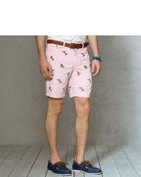 rosa bedruckte Shorts