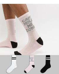 rosa bedruckte Socken von New Look
