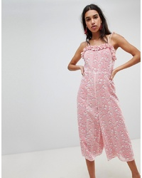 rosa bedruckter Jumpsuit von LOST INK