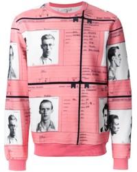 rosa bedruckter Pullover mit einem Rundhalsausschnitt von Carven