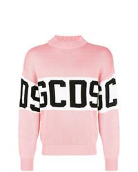 rosa bedruckter Pullover mit einem Rundhalsausschnitt von Gcds