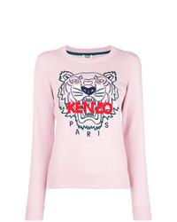 rosa bedruckter Pullover mit einem Rundhalsausschnitt von Kenzo