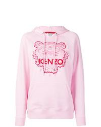 rosa bedruckter Pullover mit einer Kapuze von Kenzo