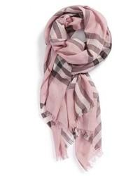 rosa bedruckter Schal