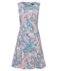 rosa bedrucktes ausgestelltes Kleid von More & More