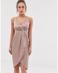rosa bedrucktes Camisole-Kleid von QED London