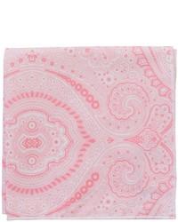 rosa bedrucktes Einstecktuch