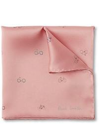 rosa bedrucktes Einstecktuch von Paul Smith