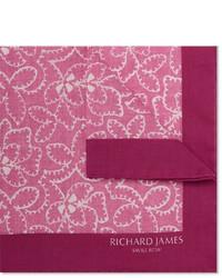 rosa bedrucktes Einstecktuch von Richard James