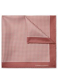 rosa bedrucktes Einstecktuch von Turnbull & Asser