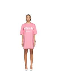 rosa bedrucktes Freizeitkleid von MSGM