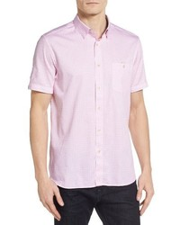 rosa bedrucktes Kurzarmhemd