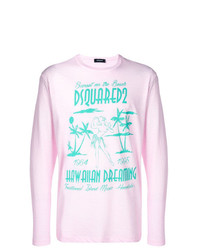 rosa bedrucktes Langarmshirt von DSQUARED2