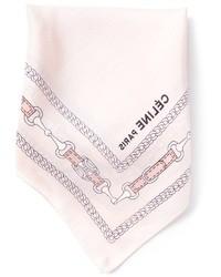 rosa bedrucktes Seide Einstecktuch von Celine