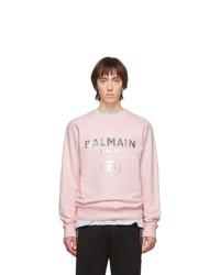 rosa bedrucktes Sweatshirt von Balmain
