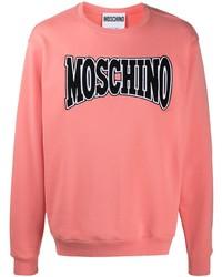 rosa bedrucktes Sweatshirt von Moschino