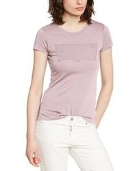 rosa bedrucktes T-Shirt mit einem Rundhalsausschnitt von Levi's