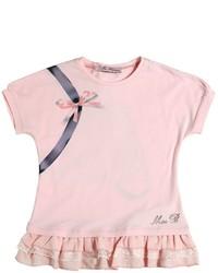 rosa bedrucktes T-shirt