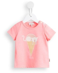 rosa bedrucktes T-shirt von Paul Smith