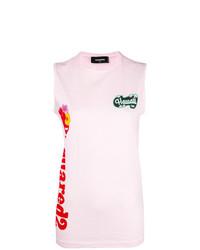 rosa bedrucktes Trägershirt von Dsquared2