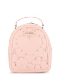 rosa bestickter Rucksack von Love Moschino