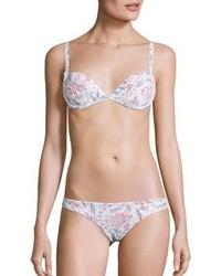 rosa Bikinihose mit Blumenmuster
