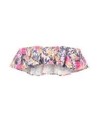 rosa Bikinioberteil mit Blumenmuster von Ivyrevel