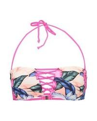 rosa Bikinioberteil mit Blumenmuster von Rip Curl