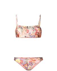 rosa Bikinioberteil mit Blumenmuster von Zimmermann