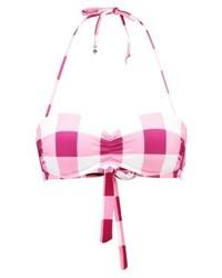 rosa Bikinioberteil mit Karomuster von Tommy Hilfiger