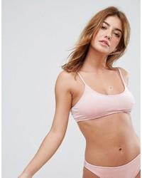 rosa Bikinioberteil von Missguided