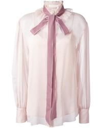 rosa Bluse mit Knöpfen von See by Chloe