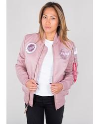 rosa Bomberjacke von Alpha Industries