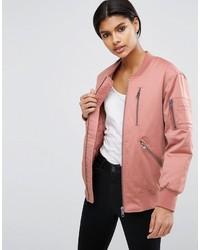 rosa Bomberjacke von Asos