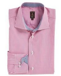rosa Businesshemd mit Karomuster