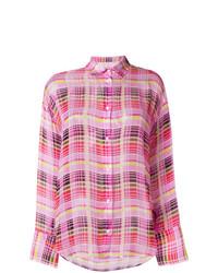 rosa Businesshemd mit Karomuster von MSGM
