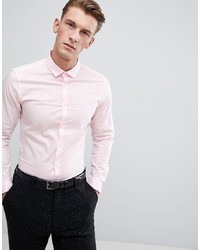 rosa Businesshemd von ASOS DESIGN