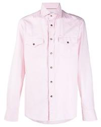 rosa Businesshemd von Brunello Cucinelli