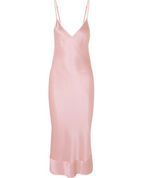 rosa Camisole-Kleid aus Seide
