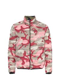 rosa Camouflage Daunenjacke von Valentino