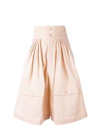 rosa Bermuda-Shorts mit Falten von Chloé