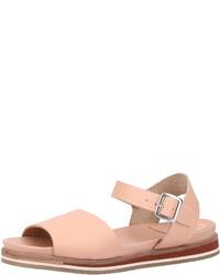 rosa flache Sandalen aus Leder von Kickers