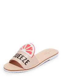 rosa flache Sandalen von Kate Spade