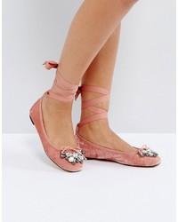 rosa flache Sandalen von Office