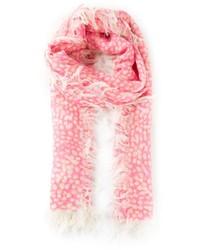 rosa gepunkteter Schal von Chloé