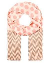 rosa gepunkteter Schal von Ichi