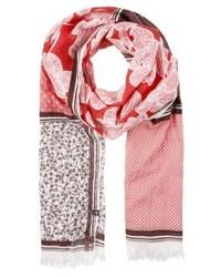 rosa gepunkteter Schal von Marc O'Polo