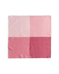 rosa gepunktetes Einstecktuch