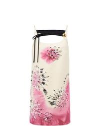 rosa Mit Batikmuster gerade geschnittenes Kleid von Prada